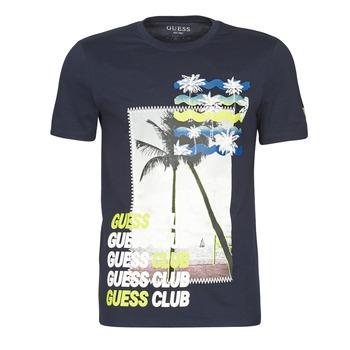 textil Herr T-shirts Guess GUESS CLUB CN SS TEE Marin