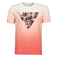 textil Herr T-shirts Guess PALM BEACH CN SS TEE Röd