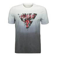 textil Herr T-shirts Guess PALM BEACH CN SS TEE Svart