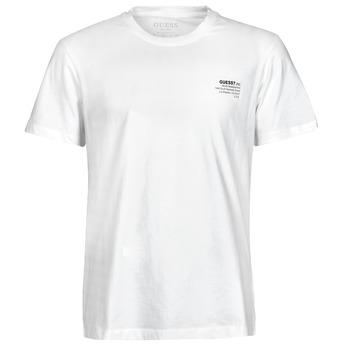 textil Herr T-shirts Guess ORGANIC BASIC CN SS TEE Vit