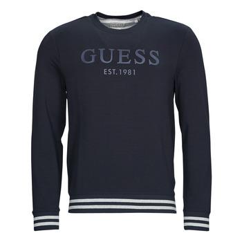 textil Herr Sweatshirts Guess BEAU CN FLEECE Svart