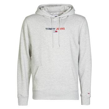 textil Herr Sweatshirts Tommy Jeans TJM LINEAR LOGO HOODIE Grå