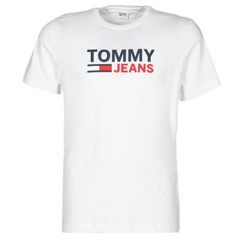textil Herr T-shirts Tommy Jeans TJM CORP LOGO TEE Vit