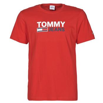 textil Herr T-shirts Tommy Jeans TJM CORP LOGO TEE Röd