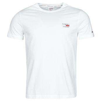 textil Herr T-shirts Tommy Jeans TJM CHEST LOGO TEE Vit