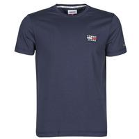textil Herr T-shirts Tommy Jeans TJM CHEST LOGO TEE Marin