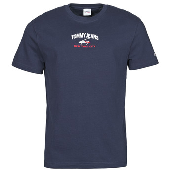 textil Herr T-shirts Tommy Jeans TJM TIMELESS TOMMY SCRIPT TEE Marin