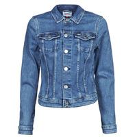 textil Dam Jeansjackor Tommy Jeans VIVIANNE SLIM DENIM TRUCKER NMBS Blå