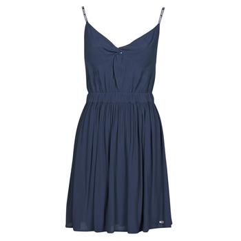 textil Dam Korta klänningar Tommy Jeans TJW ESSENTIAL STRAP DRESS Marin