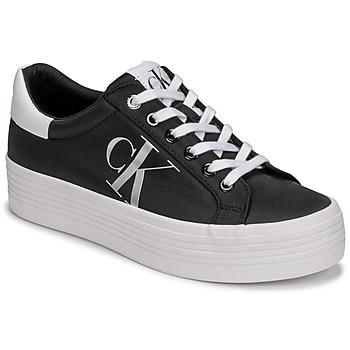 Skor Dam Sneakers Calvin Klein Jeans VULCANIZED FLATFORM LACEUP NY Svart