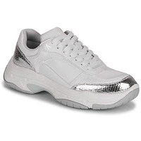 Skor Dam Sneakers Calvin Klein Jeans CHUNKY SOLE LACEUP PU-PYT PES Vit / Silver
