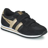 Skor Flickor Sneakers Gola DAYTONA MIRROR VELCRO Svart / Guldfärgad