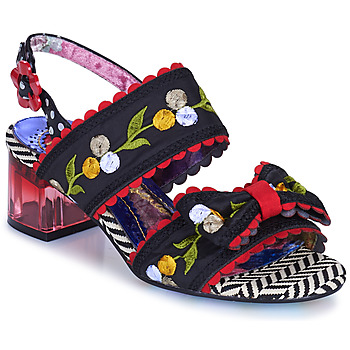 Skor Dam Sandaler Irregular Choice HERE COMES THE SUN Svart / Röd