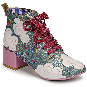 Skor Dam Stövletter Irregular Choice HEAD IN THE CLOUDS Blå / Rosa