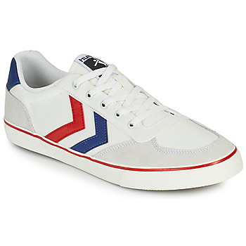 Skor Herr Sneakers Hummel STADIL LOW OGC 3.0 Vit / Blå / Röd