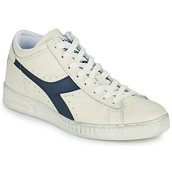 Skor Höga sneakers Diadora GAME L WAXED ROW CUT Vit / Blå