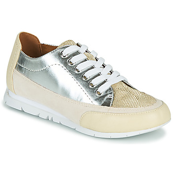 Skor Dam Sneakers Karston CAMINO Beige / Silverfärgad