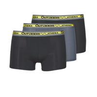Underkläder  Herr Boxershorts Athena OUTDOOR RECYCLEE X3 Svart / Grå / Svart