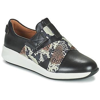 Skor Dam Sneakers Clarks UN RIO STRAP Svart