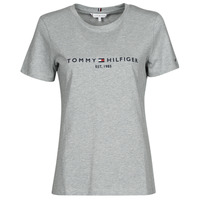textil Dam T-shirts Tommy Hilfiger TH ESS HILFIGER C-NK REG TEE SS Grå