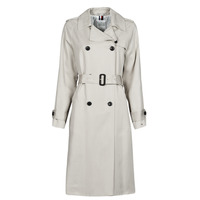 textil Dam Trenchcoats Tommy Hilfiger DB LYOCELL FLUID TRENCH Beige