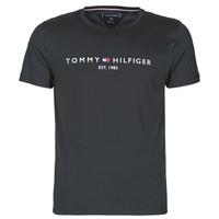 textil Herr T-shirts Tommy Hilfiger CORE TOMMY LOGO Svart
