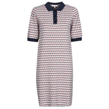 textil Dam Korta klänningar Tommy Hilfiger TH CUBE SHIFT SHORT DRESS SS Vit / Röd / Marin