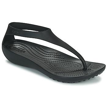 Skor Dam Flip-flops Crocs CROCS SERENA FLIP W Svart