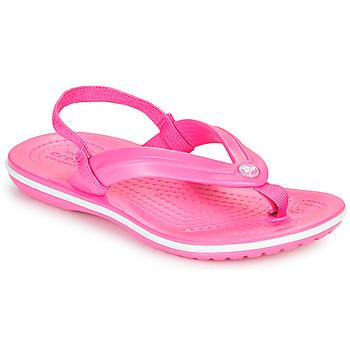 Skor Flickor Flip-flops Crocs CROCBAND STRAP FLIP K Rosa