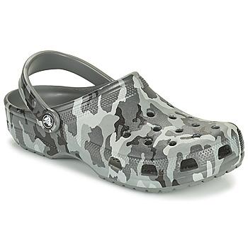 Skor Herr Träskor Crocs CLASSIC PRINTED CAMO CLOG Kamouflage / Grå