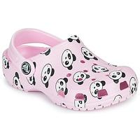 Skor Flickor Träskor Crocs CLASSIC PANDA PRINT CLOG K Rosa