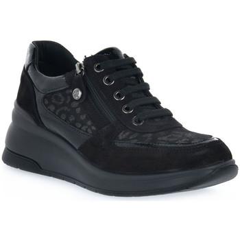 Skor Dam Sneakers Enval LEOL NERO Nero
