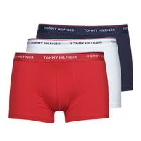 Underkläder  Herr Boxershorts Tommy Hilfiger TRUNK X3 Vit / Röd / Marin