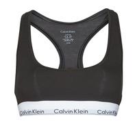 Underkläder  Dam Bh Calvin Klein Jeans MODERN COTTON UNLINED BRALETTE Svart