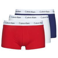 Underkläder  Herr Boxershorts Calvin Klein Jeans RISE TRUNK X3 Marin / Vit / Röd