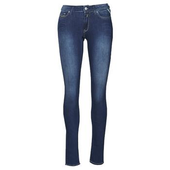 textil Dam Skinny Jeans Replay NEW LUZ Blå