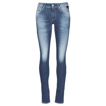 textil Dam Skinny Jeans Replay HYPERFLEX LUZ Blå