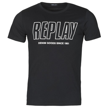 textil Herr T-shirts Replay M3395-2660 Svart