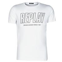 textil Herr T-shirts Replay M3395-2660 Vit