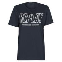 textil Herr T-shirts Replay M3395-2660 Marin