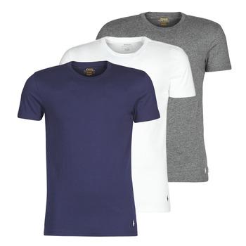 textil Herr T-shirts Polo Ralph Lauren SS CREW NECK X3 Marin / Grå / Vit
