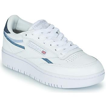 Skor Dam Sneakers Reebok Classic CLUB C DOUBLE Vit / Blå