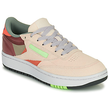 Skor Dam Sneakers Reebok Classic CLUB C DOUBLE Beige / Bordeau