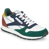 Skor Barn Sneakers Reebok Classic CL LTHR Vit / Grön / Blå