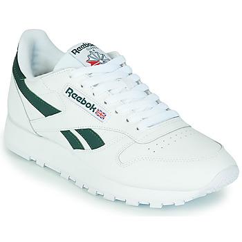 Skor Sneakers Reebok Classic CL LTHR Vit / Grön