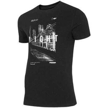 textil Herr T-shirts 4F TSM025 Svarta