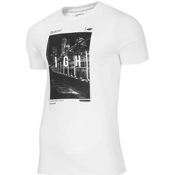 textil Herr T-shirts 4F TSM025 Vit