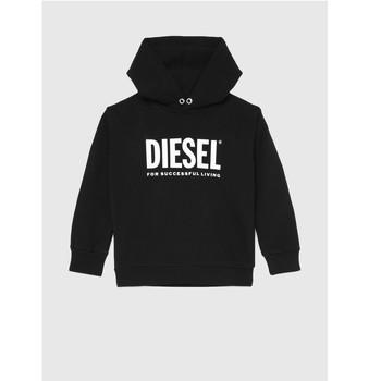 textil Barn Sweatshirts Diesel SDIVISION LOGO Svart