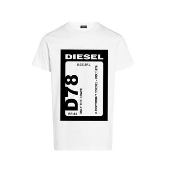 textil Pojkar T-shirts Diesel TFULL78 Vit
