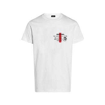 textil Pojkar T-shirts Diesel TDIEGOS Vit